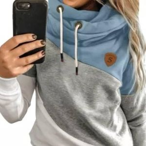 Cowl Neck Pullover Hoodie